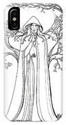Druid Woman Shush IPhone Case