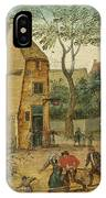 Drunkard Being Taken Home From The Tavern By His Wife IPhone Case
