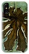Dry Leaf Collection Wall IPhone Case