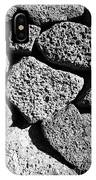 Dry Stone Wall Made Of Volcanic Rocks Reykjavik Iceland IPhone Case