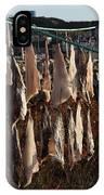 Drying Pieces Of Salt Cod In Bonavista, Nl, Canada IPhone Case