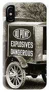 Du Pont Co. Explosives Truck Pennsylvania Coal Fields 1916 IPhone Case