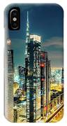 Dubai Downtown Architecture And A Highway.  IPhone Case