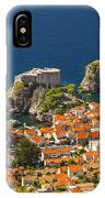 Dubrovnik Fortress From Above IPhone Case