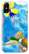 Duck Meets Fairy Ballet Class IPhone Case