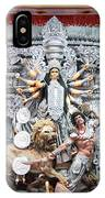 Durga Idol At Puja Pandal Durga Puja Festival IPhone Case