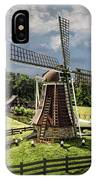 Dutch Windmill Near The Zuider Zee IPhone Case