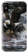 Eagle Catches Fish IPhone Case