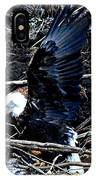Eagle Getting Ready To Feed IPhone Case