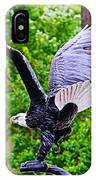 Eagle In The Garden IPhone Case