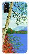 Early Autumn Birches IPhone Case