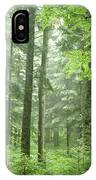 Early Morning In Swiss Forest IPhone Case