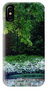 Early Morning Light At The Azalea Pond IPhone Case