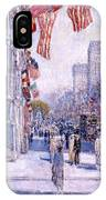 Early Morning On The Avenue In May 1917 - 1917 IPhone Case
