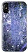 Early Morning Pearls Dew Kissed Spider Web IPhone Case
