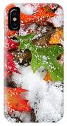 Early Snow During Autumn  IPhone Case