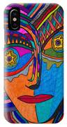 Earth And Aqua Mask - Abstract Face IPhone Case