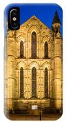 East Side Of Hexham Abbey At Night IPhone Case