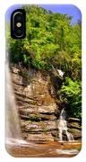 Eastatoe Falls/twin Falls 2 IPhone Case