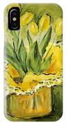 Easter Tulips IPhone Case by Maria Langgle