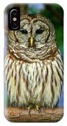 Eastern Barred Owl IPhone Case