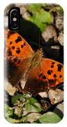 Eastern Comma Butterfly IPhone Case