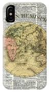Eastern Hemisphere Earth Map Over Dictionary Page IPhone Case