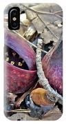Eastern Skunk Cabbage Spathes - Symplocarpus Foetidus IPhone Case