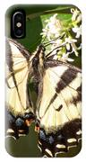 Eastern Tiger Swallowtail  Butterfly Wingspan IPhone Case
