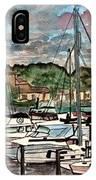 Eau Gallie Seascape Painting IPhone Case