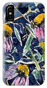Echinacea Cone Flower Art IPhone Case