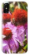 Echinacea Watercolor 2015 IPhone Case