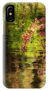 Echoes Of Monet - Cherry Blossoms Over A Pond - Brooklyn Botanic Garden IPhone Case