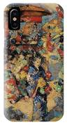 Edward Atkinson Hornel 1864 - 1933 Carnival Day, Japan IPhone Case