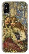 Edward Atkinson Hornel 1864-1933 The Bluebell Wood IPhone Case