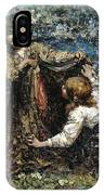 Edward Atkinson Hornel 1864 - 1933 The Butterfly Catchers IPhone Case
