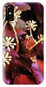 Efeu Ivy Vines Pink IPhone Case