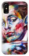 Egon Schiele - Watercolor Portrait.2 IPhone Case