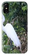 Egret In A Tree IPhone Case