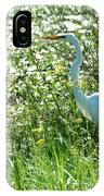 Egret In Flowers IPhone Case