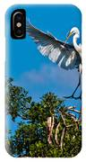 Egret Landing IPhone Case