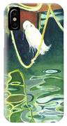 Egret On A Rope IPhone Case