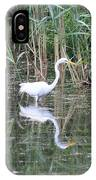 Egret On The Hunt IPhone Case