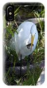 Egret With Crayfish IPhone Case