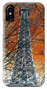 Eiffel Tower Behind The Trees Pop Art IPhone Case