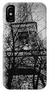 Eiffel Tower During The Winter. IPhone Case