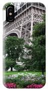 Eiffel Tower Garden IPhone Case