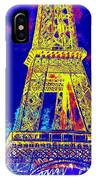 Eiffel Tower In Blue IPhone Case