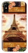 Eiffel Tower Roses Dance IPhone Case