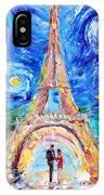 Eiffel Tower Starry Night Romance IPhone Case